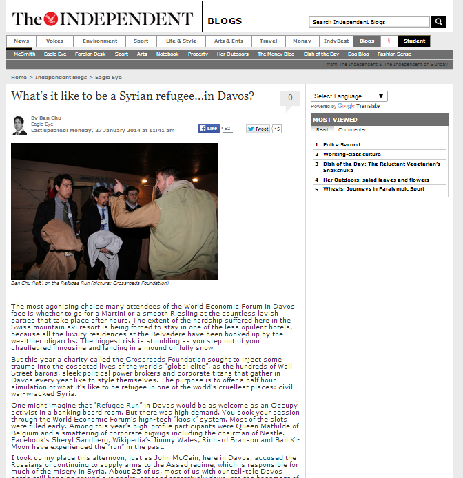 The Independent Jan 2014