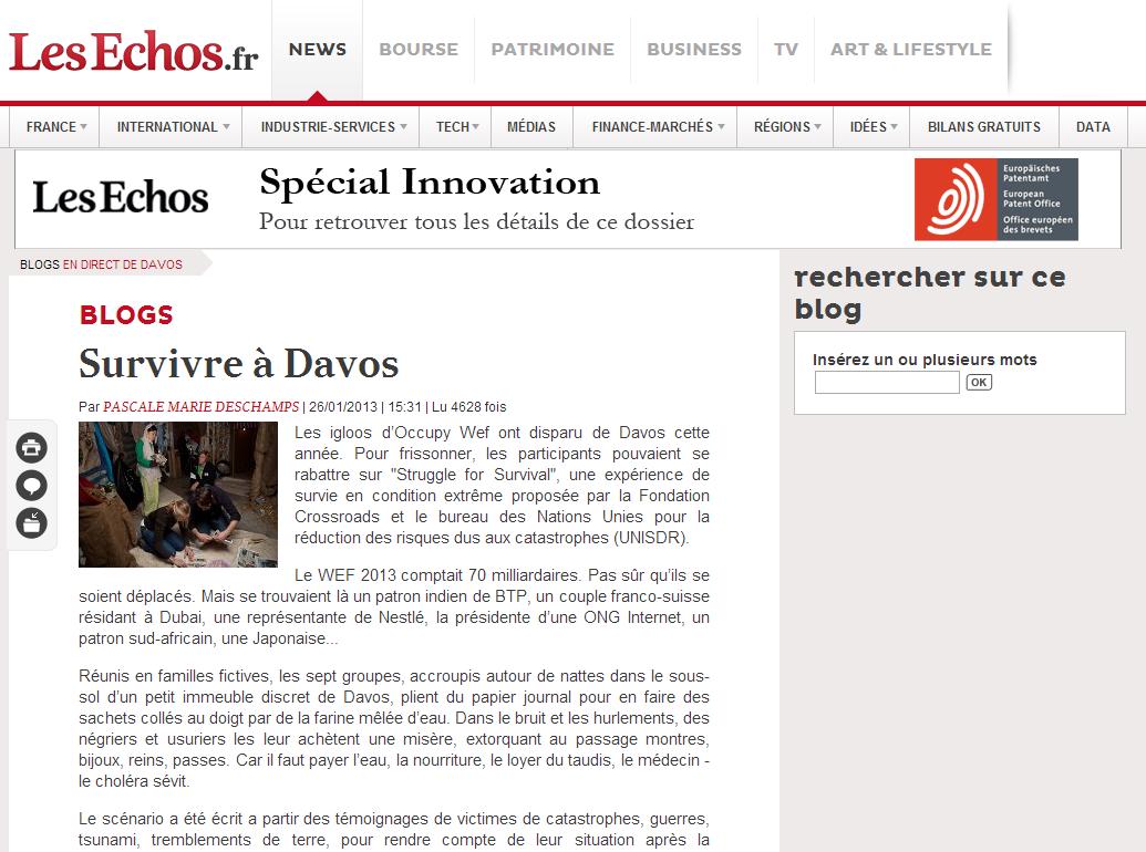 les echos, jan 2013
