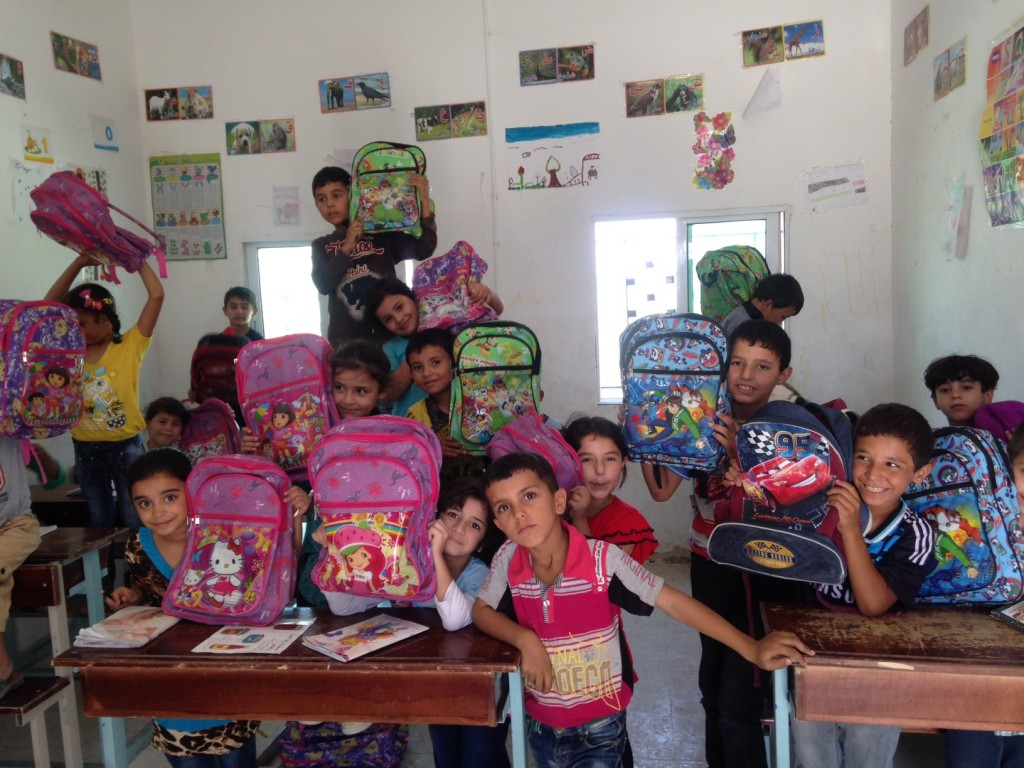 Backpacks and stationery from our summer Syrian appeal helped welcome Syrian refugee children in Jordan to school, many of whom have missed months or years of their education because of the conflict.
