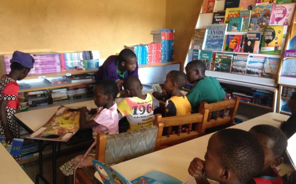 Tanzania school desks and books